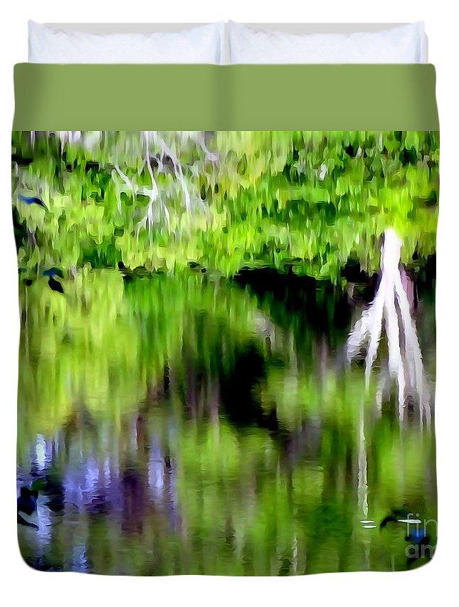 Digital Art Duvet Cover featuring the digital art Plymouth Reflections #2 by Ed Weidman