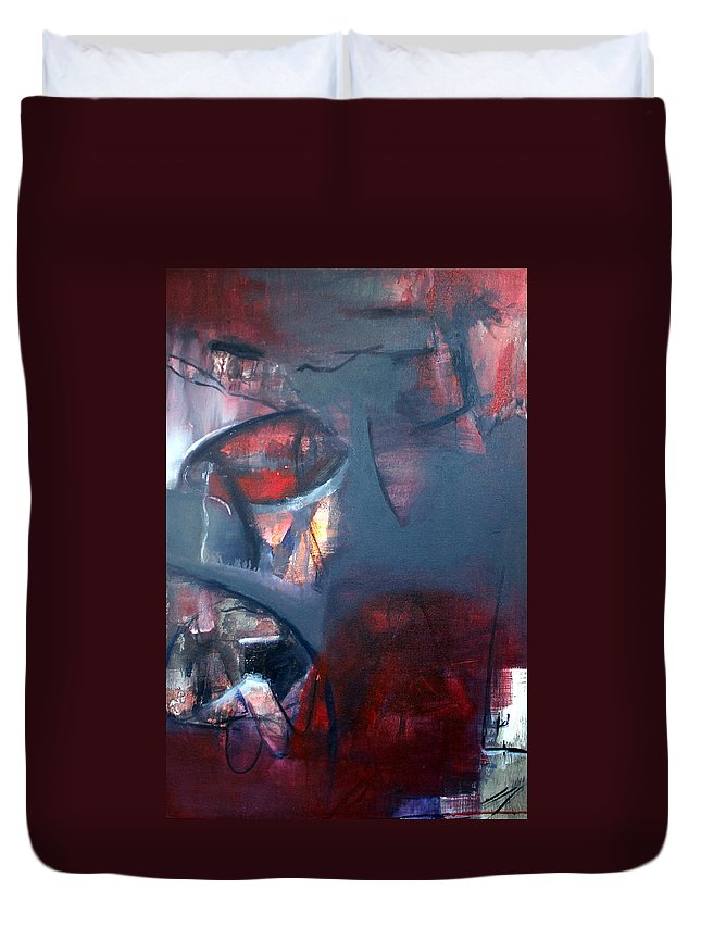 Pods Duvet Cover featuring the painting Pods by Carmencita Balagtas