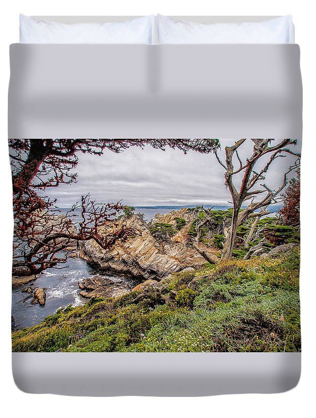 State Reserve Duvet Cover featuring the photograph Point Lobos State Reserve by Donald Pash