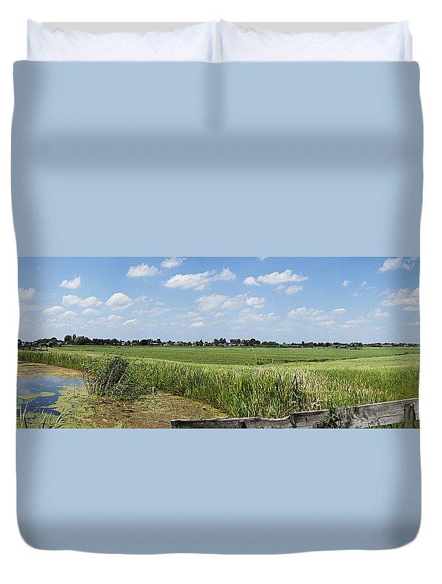 Polder Duvet Cover featuring the photograph Polder Near Reeuwijk-1 by Casper Cammeraat
