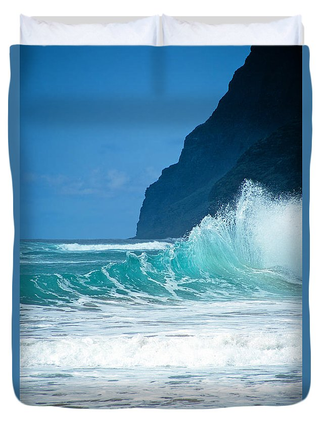 Polihale Beach Duvet Cover featuring the photograph Polihale Beach by Kevin Smith