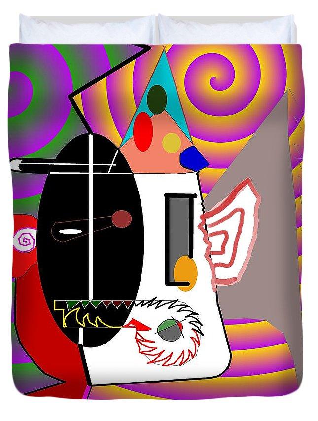 Politic Duvet Cover featuring the digital art Politics by Helmut Rottler