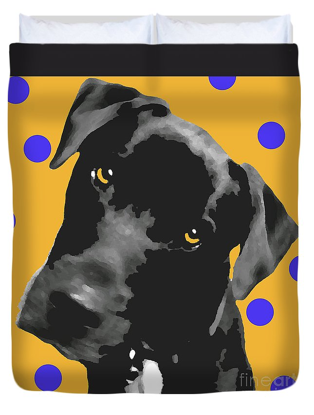 Dogs Duvet Cover featuring the photograph Polka Dot by Amanda Barcon