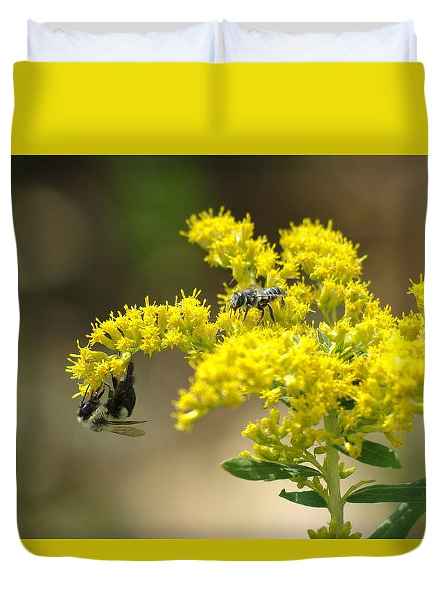 Pollinators Duvet Cover featuring the photograph Pollinators by Aaron Rushin