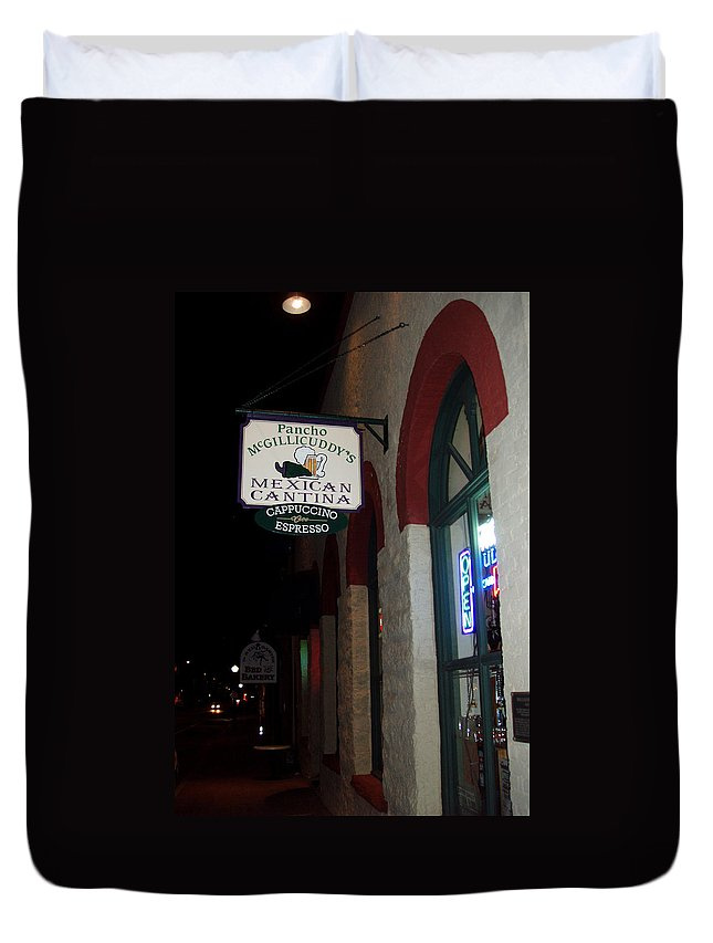 Restaurant Duvet Cover featuring the photograph Poncho Mcgillicuddys by Wayne Potrafka