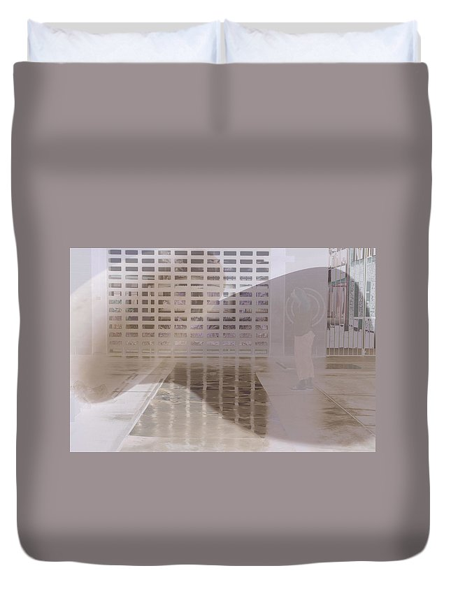 Pondering Duvet Cover featuring the photograph Pondering by Kerryn Madsen-Pietsch