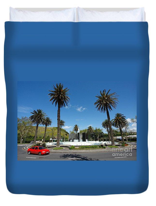 Roundabout Duvet Cover featuring the photograph Ponta Delgada by Gaspar Avila