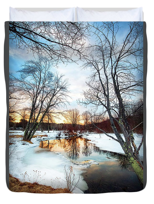 16-35 Duvet Cover featuring the photograph Poor Farm Brook by Robert Clifford