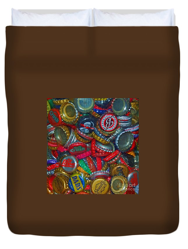 Bottles Duvet Cover featuring the photograph Pop Art by Debbi Granruth