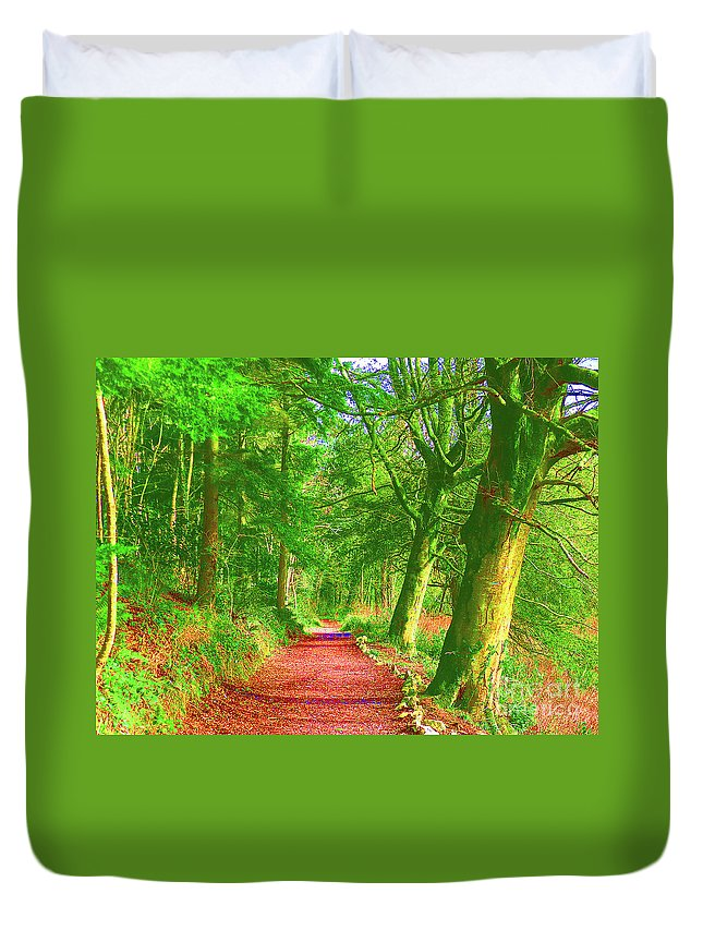 Pop Duvet Cover featuring the photograph Pop Art Path by Mark Haynes