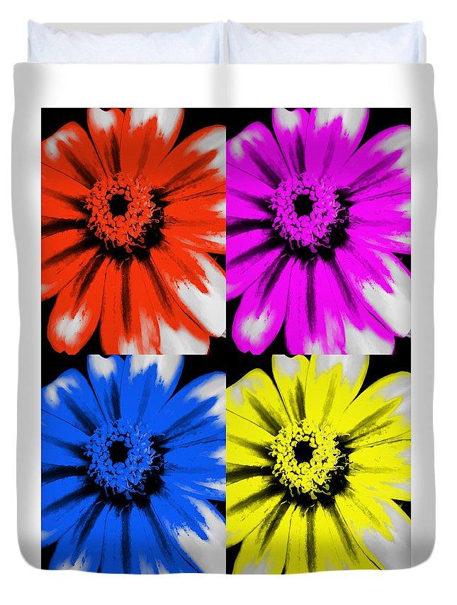 Pop Art Petals Duvet Cover featuring the photograph Pop Art Petals by Heather Joyce Morrill