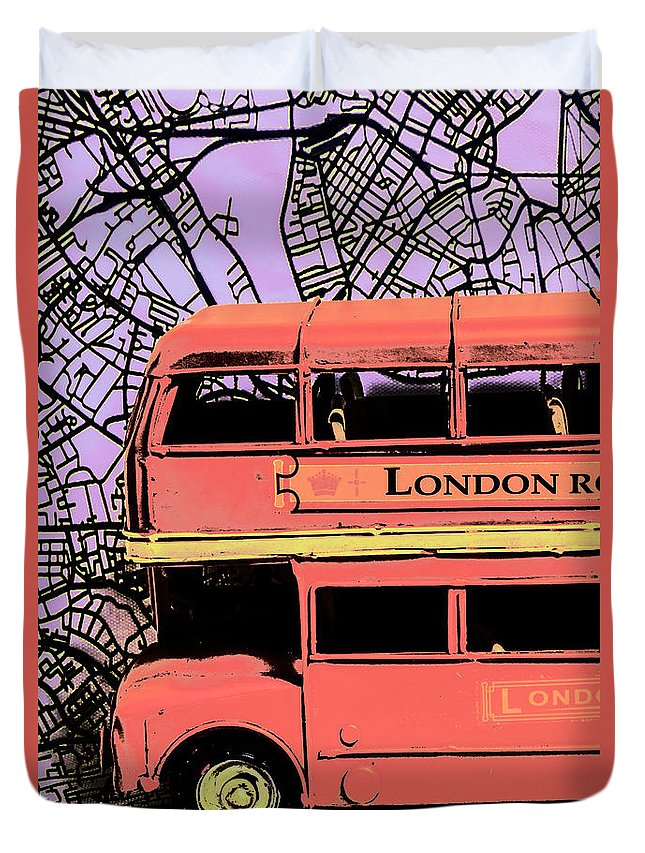 Red Bus Duvet Covers