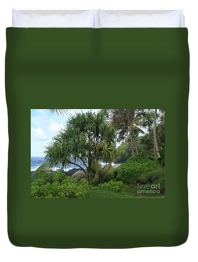 Aloha Duvet Cover featuring the photograph Poponi Maui Hawaii by Sharon Mau