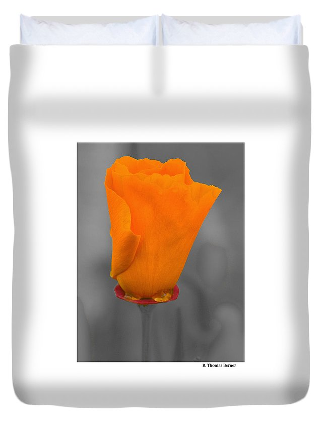 Duvet Cover featuring the photograph Poppy In Tasmania by R Thomas Berner