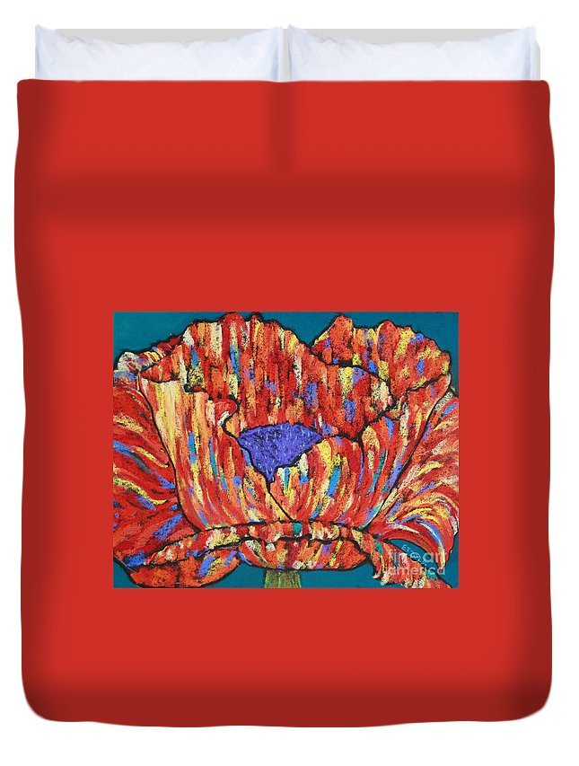 Poppy Duvet Cover featuring the painting Poppy2 by Melinda Etzold