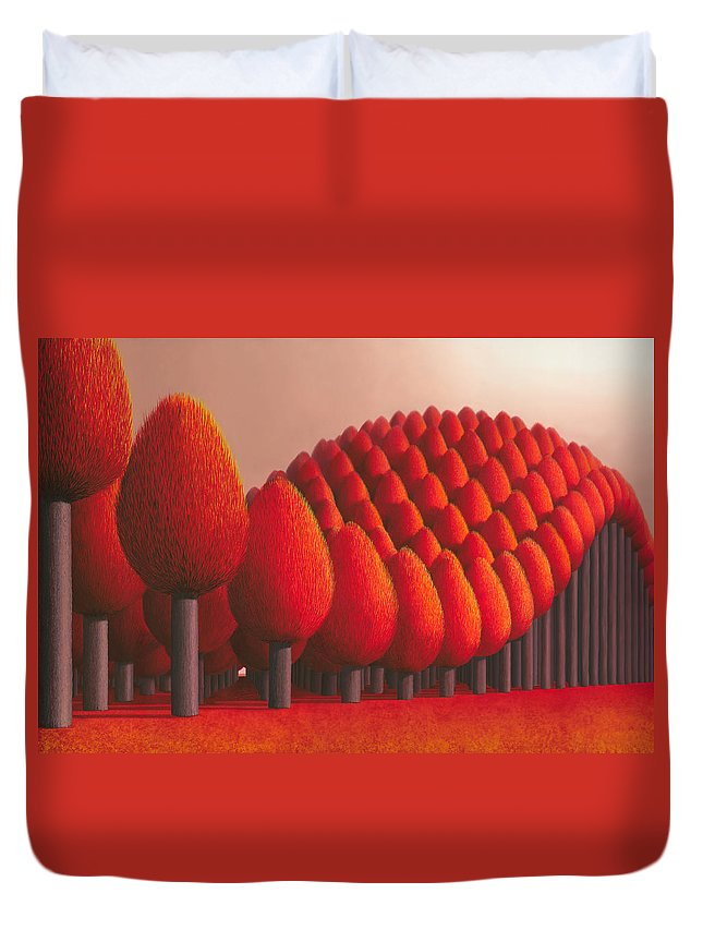 Tree Duvet Cover featuring the painting Populus Flucta by Patricia Van Lubeck
