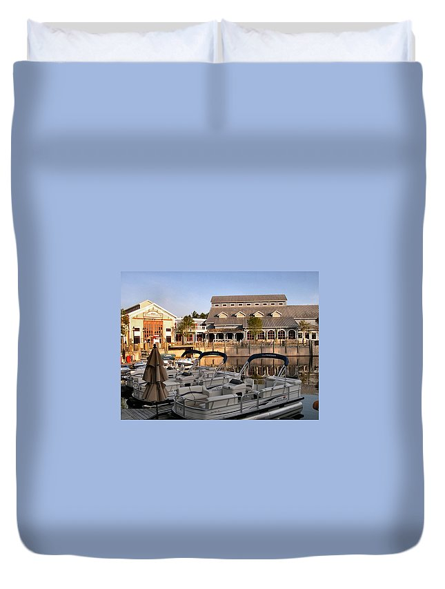 Port Orleans Duvet Cover featuring the photograph Port Orleans Riverside II by Nora Martinez