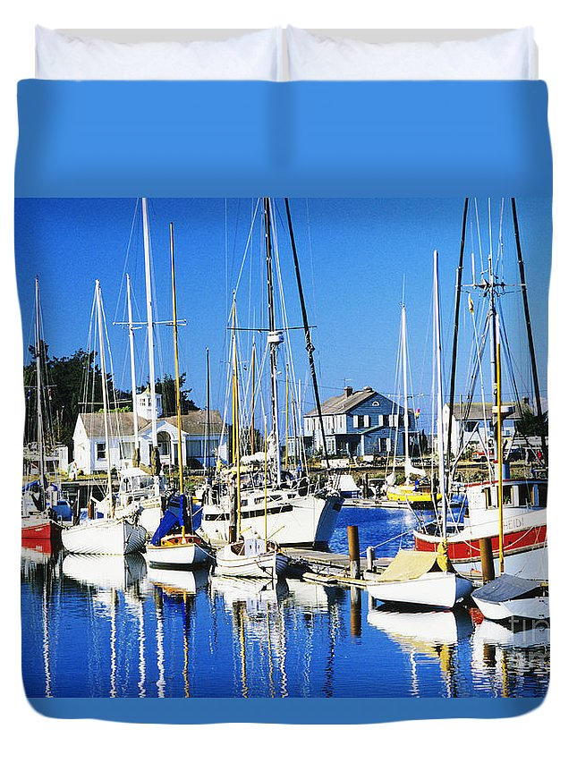 Anchor Duvet Cover featuring the photograph Port Townsend Harbor by Peter French - Printscapes