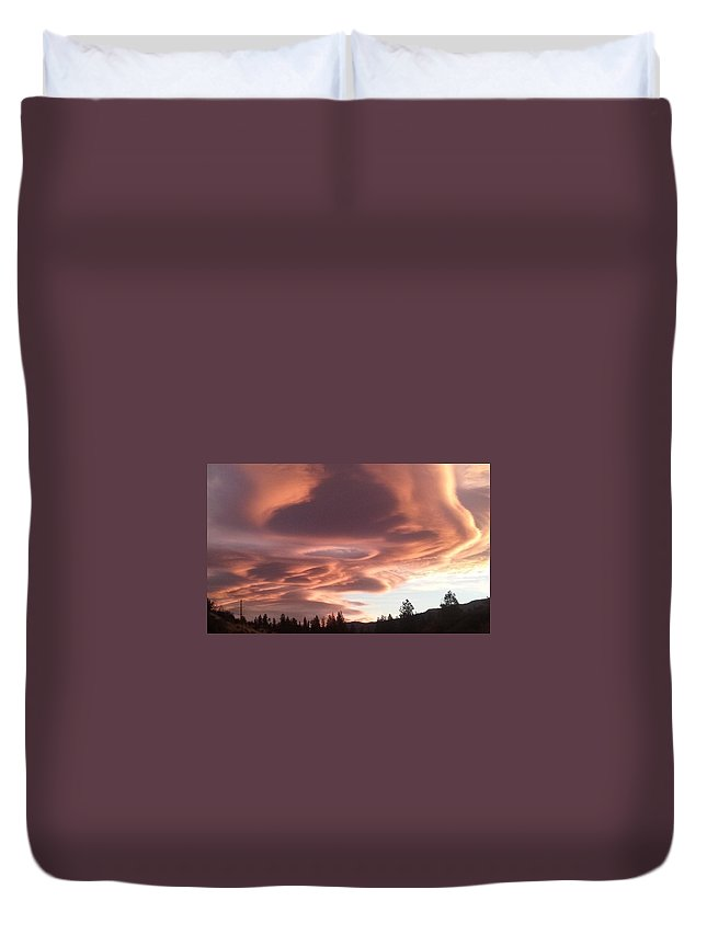 Nature Duvet Cover featuring the photograph Portal In The Sky by Cynthea Greb