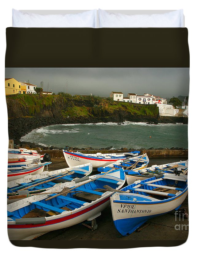 Coastal Duvet Cover featuring the photograph Porto Dos Carneiros by Gaspar Avila