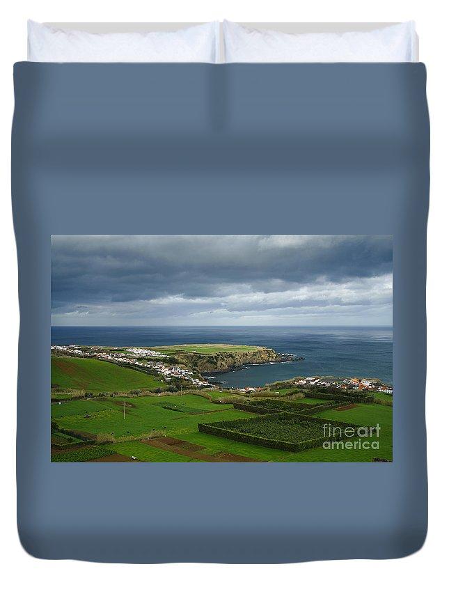 Landscape Duvet Cover featuring the photograph Porto Formoso by Gaspar Avila