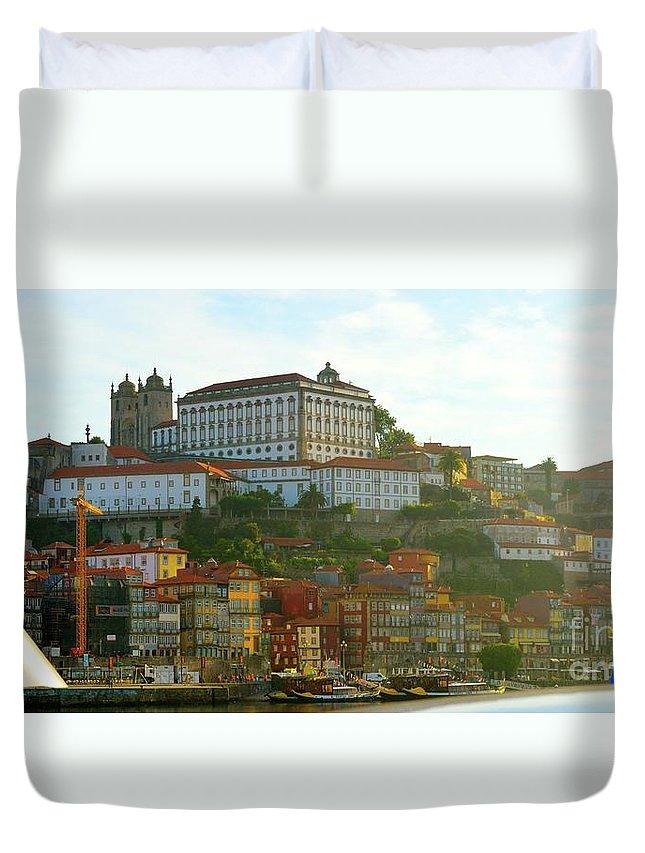 Porto Duvet Cover featuring the photograph Porto by Victoria Cerqueira
