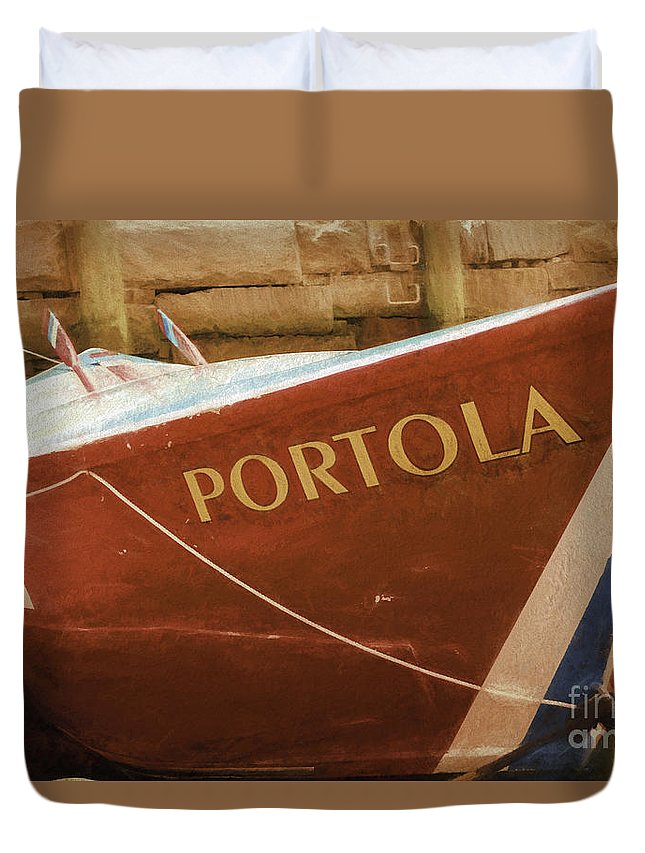 Boat Duvet Cover featuring the photograph Portola by Joe Geraci