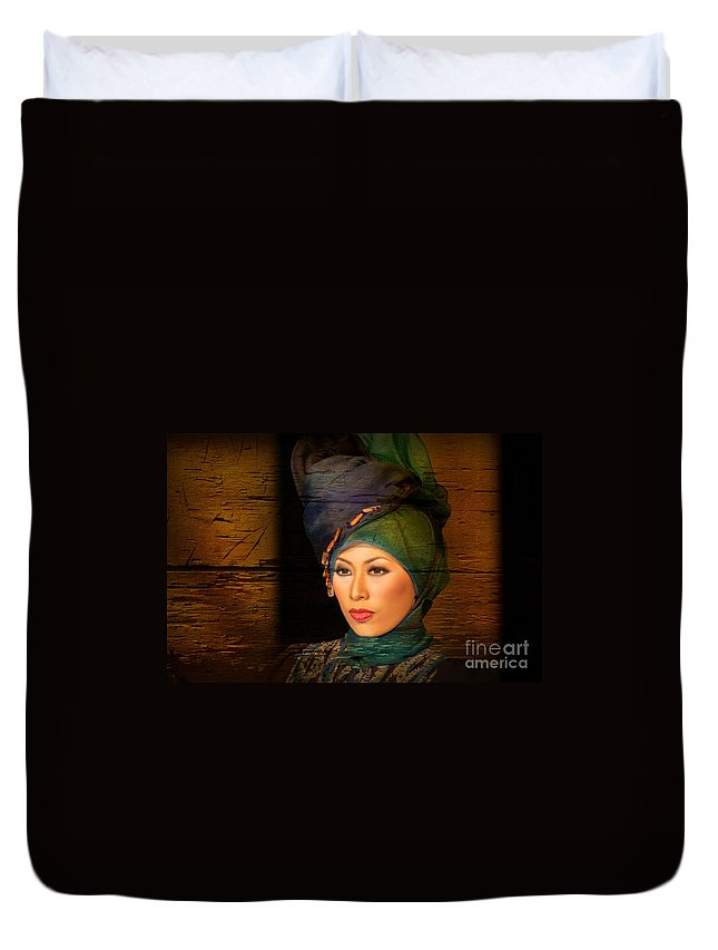 Duvet Cover featuring the photograph Portrait by Charuhas Images