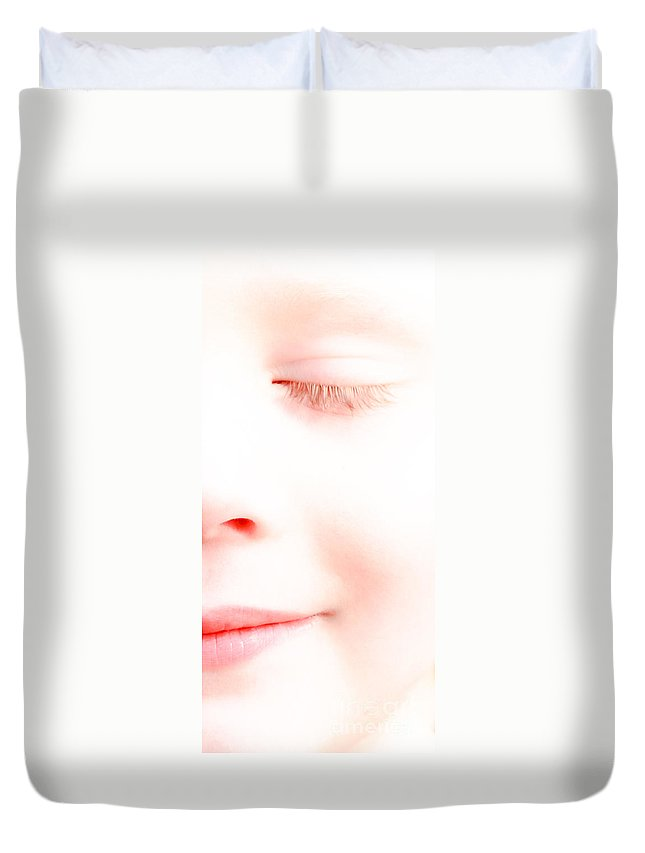 Sleep Duvet Cover featuring the photograph Portrait Of A Dream by Bob Orsillo