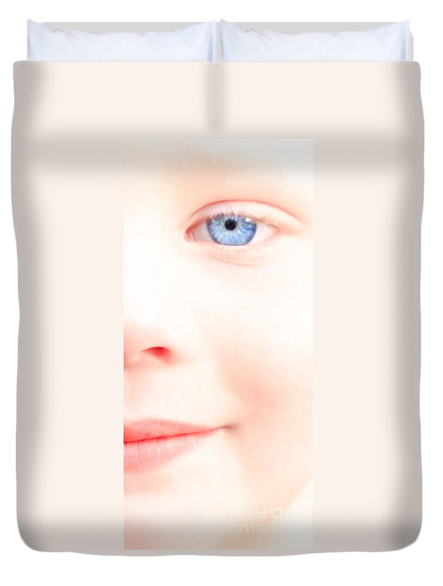 Eyes Duvet Cover featuring the photograph Portrait Of A Smile by Bob Orsillo