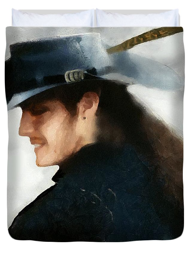 Buccaneer Duvet Cover featuring the painting Portrait Of A Young Man As A Buccaneer by RC DeWinter