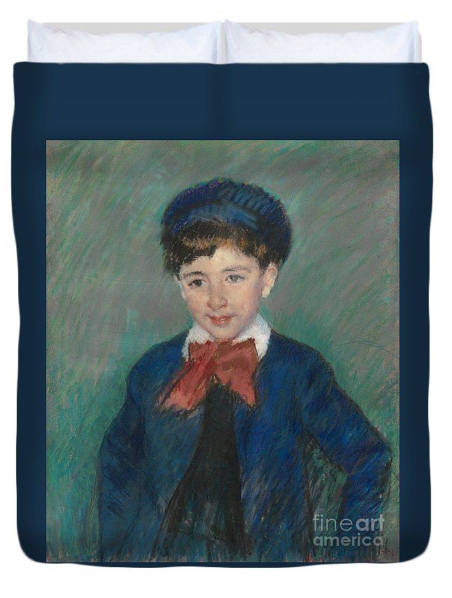 Mary Cassatt Duvet Cover featuring the painting Portrait Of Charles Dikran Kelekian by Celestial Images