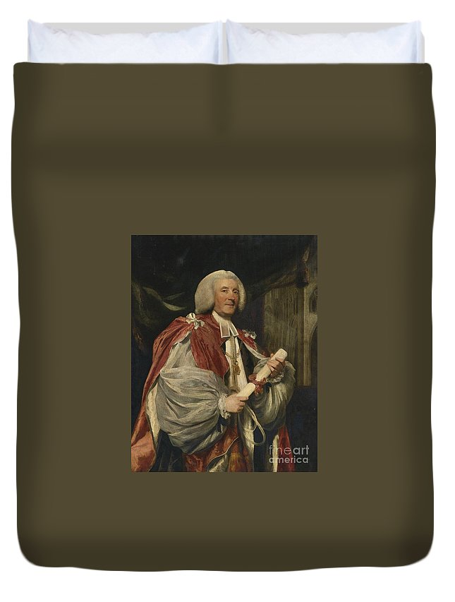 Sir Joshua Reynolds Duvet Cover featuring the painting Portrait Of Dr. John Thomas by Celestial Images