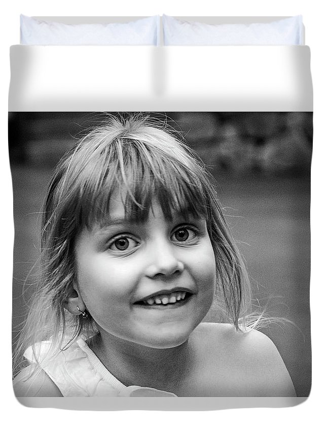 Girl Duvet Cover featuring the photograph Portrait Of Elizabeth by Alex Galkin