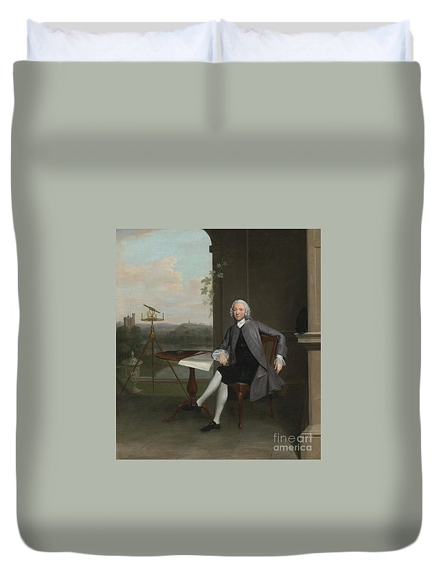 Arthur Devis Duvet Cover featuring the painting Portrait Of Jonas Hanway by Celestial Images