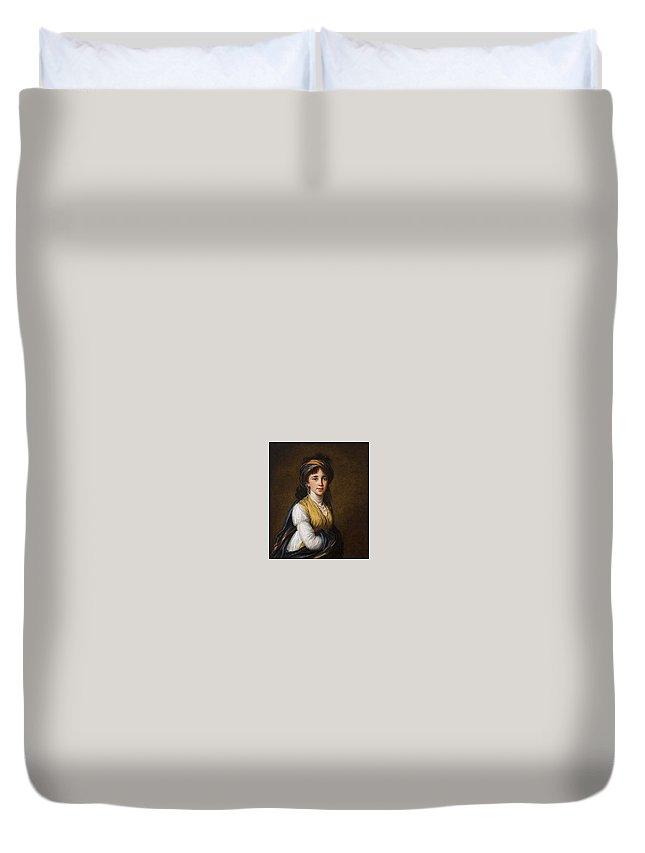 Portrait Duvet Cover featuring the digital art Portrait Of Princess Belozersky Lisabeth Louise Vige Le Brun by Eloisa Mannion