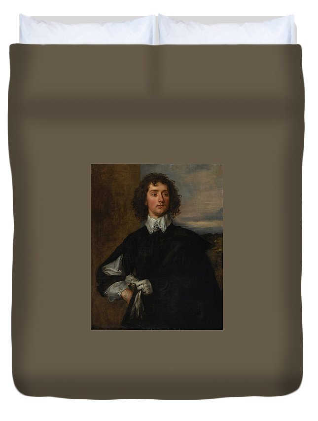 Attributed To Thomas Gainsborough Duvet Cover featuring the painting Portrait Of Thomas Hanmer by Thomas Gainsborough