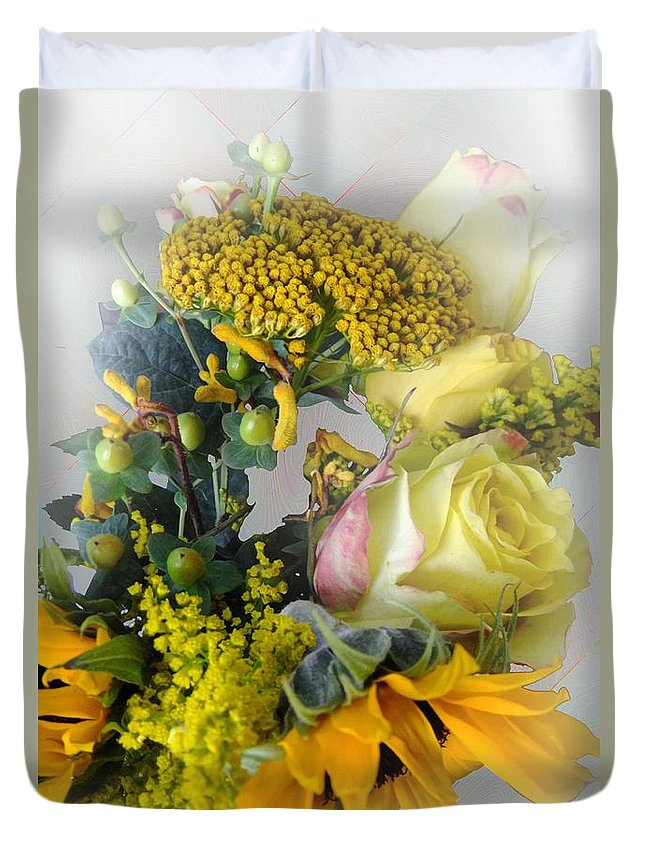 Bouquet Duvet Cover featuring the photograph Posies Picturesque by RC DeWinter