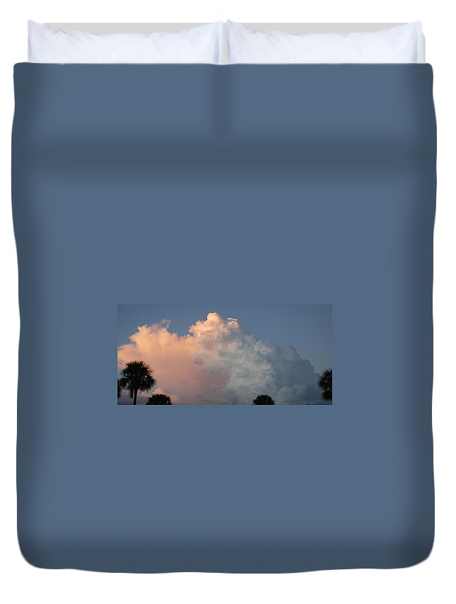 Clouds Duvet Cover featuring the photograph Post Card Clouds by Rob Hans