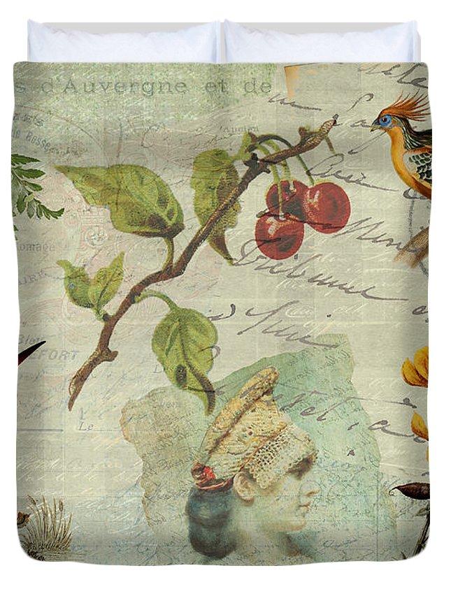 Pot-pourri Duvet Cover featuring the digital art Pot-pourri by Sarah Vernon