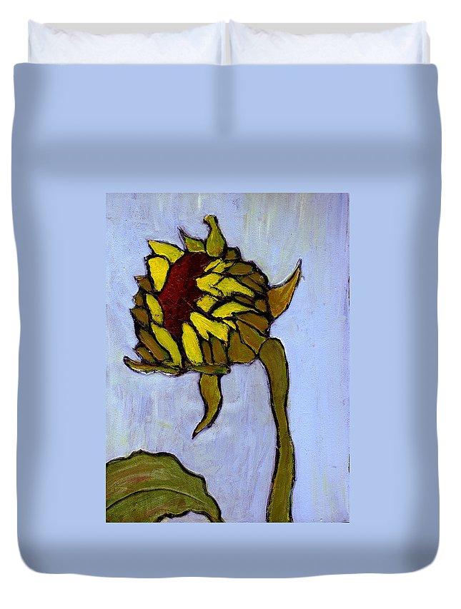 Sunflower Duvet Cover featuring the painting Potential by Wayne Potrafka