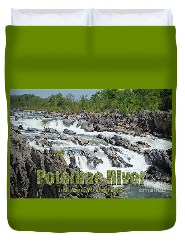 Potomac River Duvet Cover featuring the photograph Potomac River by Jost Houk