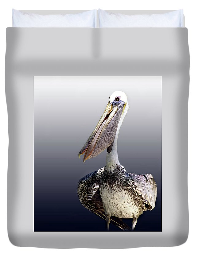 Pelican Duvet Cover featuring the photograph Pouches by Skip Willits