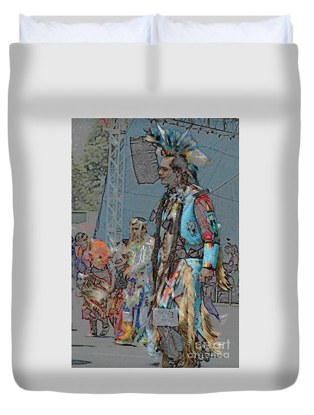 Native Duvet Cover featuring the photograph Pow Wow Competition by Kathleen Struckle