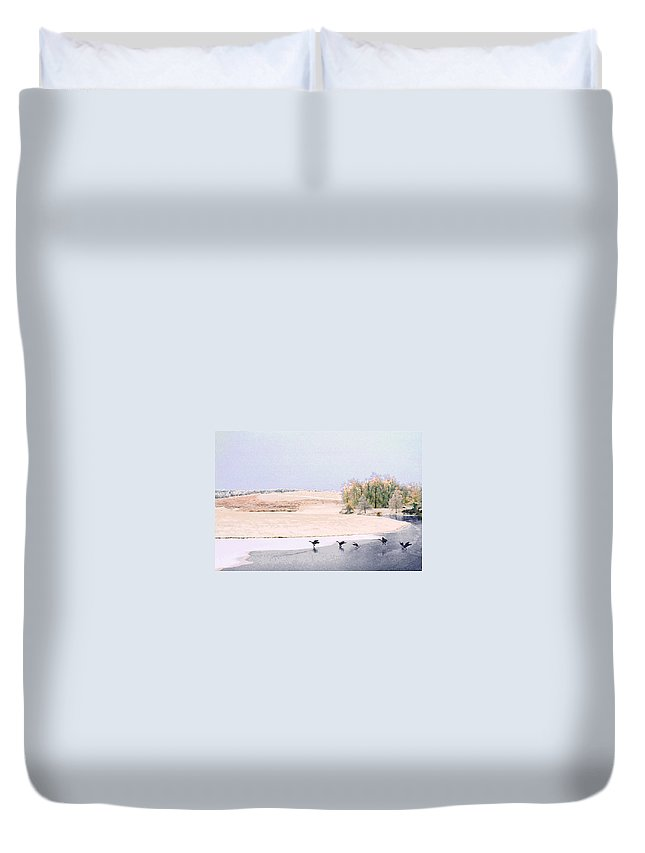 Landscape Duvet Cover featuring the photograph Powell Gardens In Winter by Steve Karol