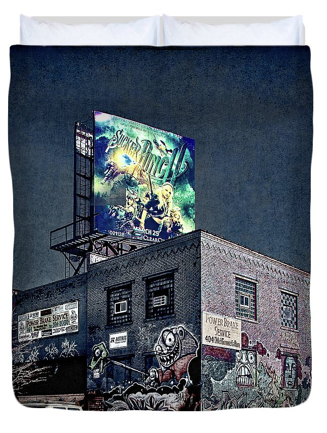 Graffiti Duvet Cover featuring the photograph Power Brakes by Chris Lord