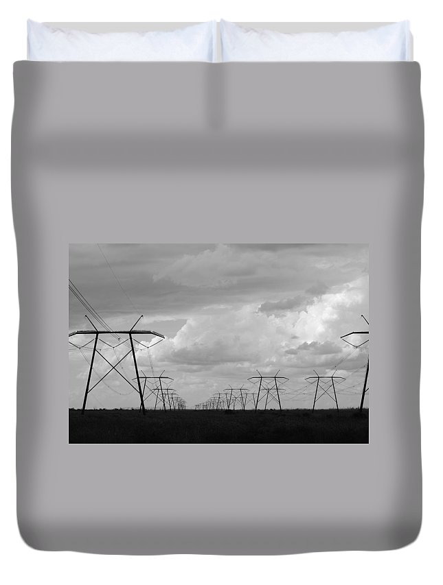 Sky Duvet Cover featuring the photograph Power In The Sky by Rob Hans