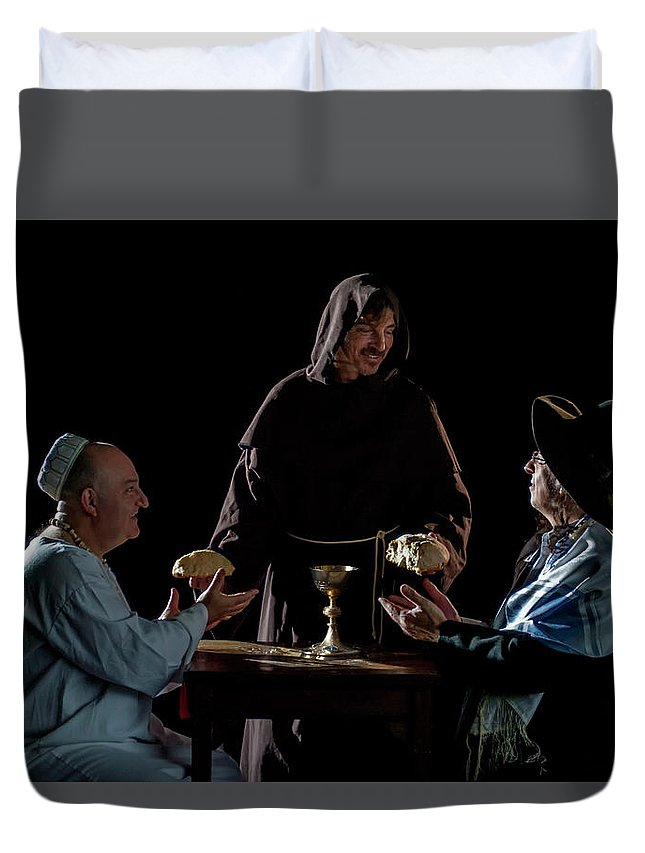 Religion Duvet Cover featuring the photograph Power Of Love by Hans Wolfgang Muller Leg
