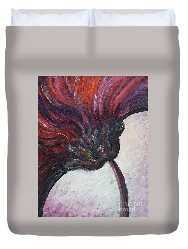 Purple Duvet Cover featuring the painting Power Of Purple by Nadine Rippelmeyer