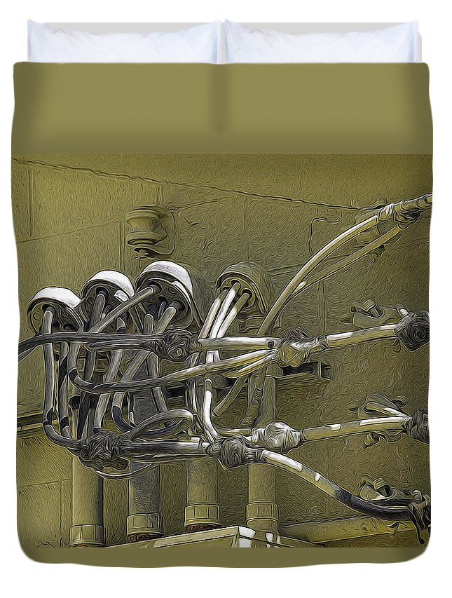 Marshall Barth Duvet Cover featuring the photograph Power Up by Marshall Barth